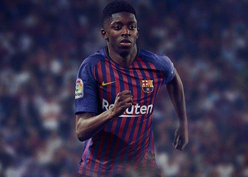 FC Barcelona Thuisshirt 2018-2019 Dembélé