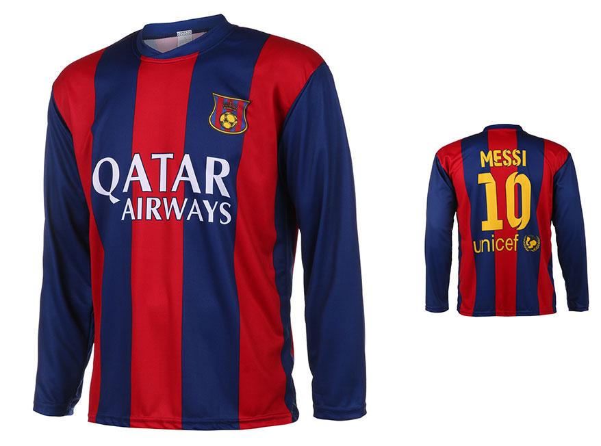 Barcelona Voetbalshirt Messi Thuis 2014-2015 Lange Mouwen