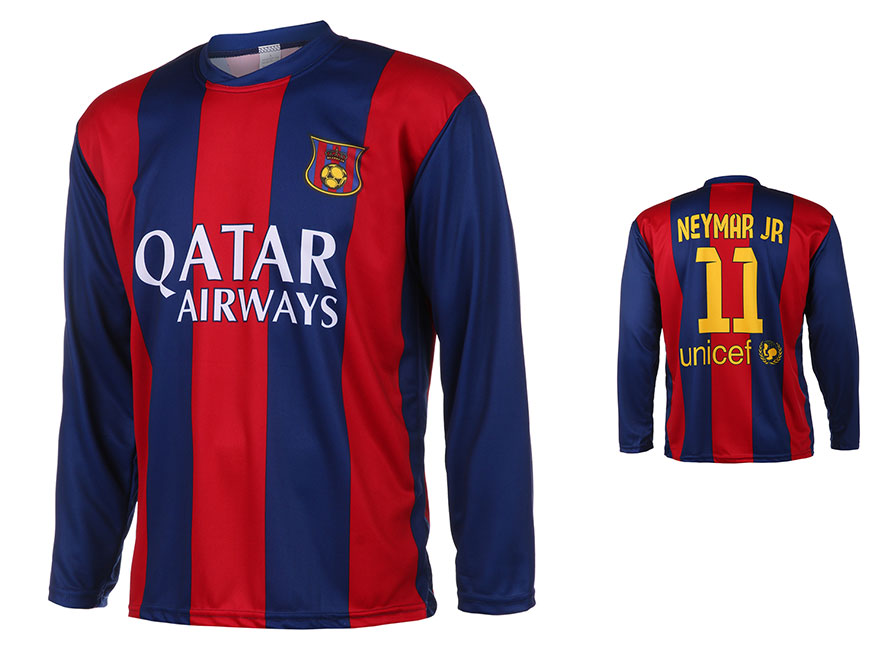 Barcelona Voetbalshirt Neymar Thuis 2014-2015 Lange Mouwen