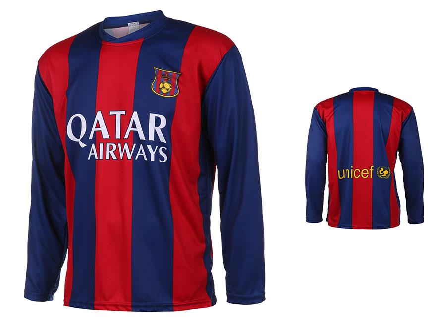 Barcelona Voetbalshirt Thuis Eigen Naam 2014-2015 Lange Mouwen