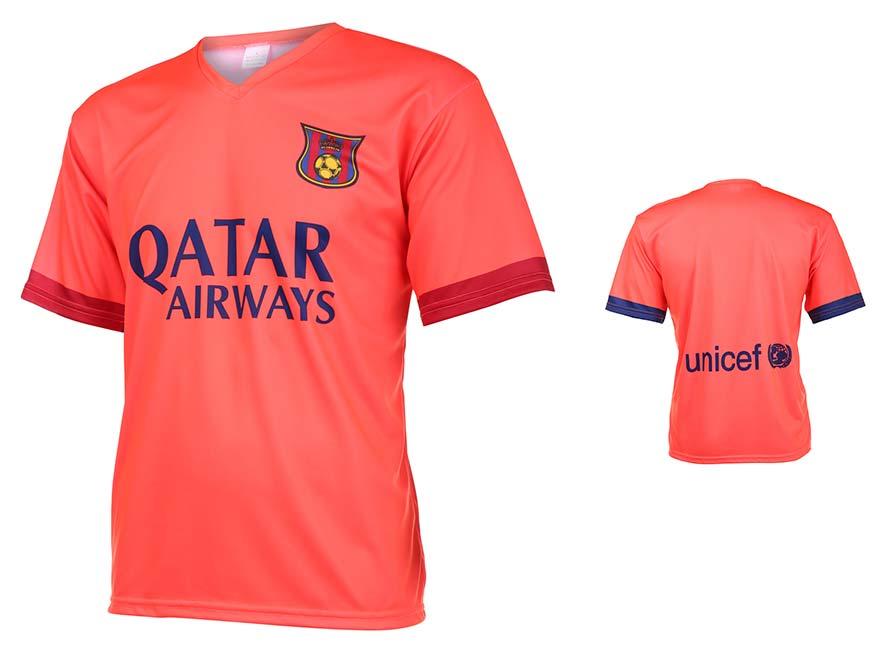Barcelona Voetbalshirt Uit Eigen Naam 2014-2015