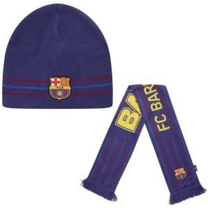 FC Barcelona Giftbox Sjaal + Muts