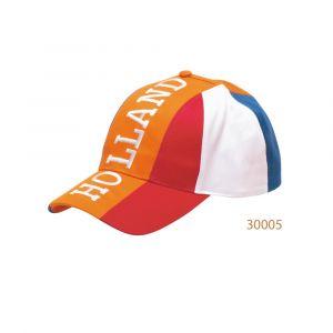 Oranje Holland Baseball Cap met Rood Wit Blauw