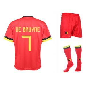 Belgie Voetbaltenue Thuis De Bruyne 2019-2021 Kids-Senior