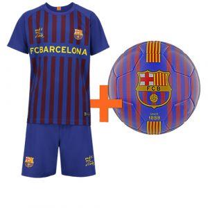 FC Barcelona Voetbaltenue Thuis Kids Eigen Naam + Voetbal (superdeal)
