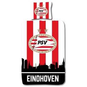 Dekbed PSV Rood/Wit Skyline: 140x200/60x70 cm