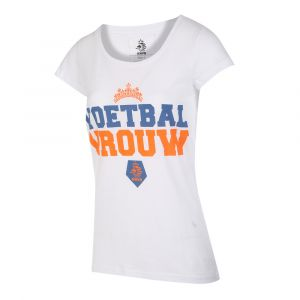 KNVB - Nederlands Elftal - Leeuwinnen T-shirt Dames - Voetbal Vrouwen - Eigen Naam - Wit