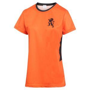 Nederlands Elftal Dames Voetbalshirt Thuis Eigen Naam 2020-2021 Meisjes-Vrouwen - Leeuwinnen