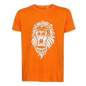 Oranje T-shirt Leeuw - Eigen Naam - Nederlands Elftal - Katoen - Senior