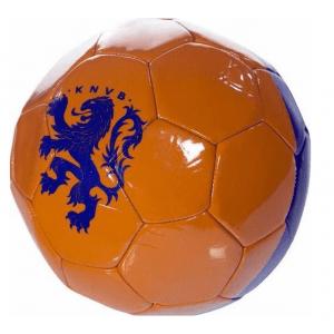 Bal holland leer groot KNVB oranje/blauw