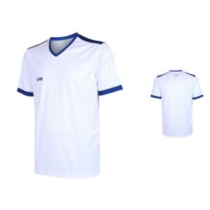 VSK Fly Voetbalshirt Eigen Naam Wit-Blauw