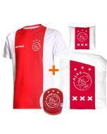 Ajax T-shirt Logo Katoenen Kids Eigen Naam + Dekbed Ajax + Ajax bal (superdeal)