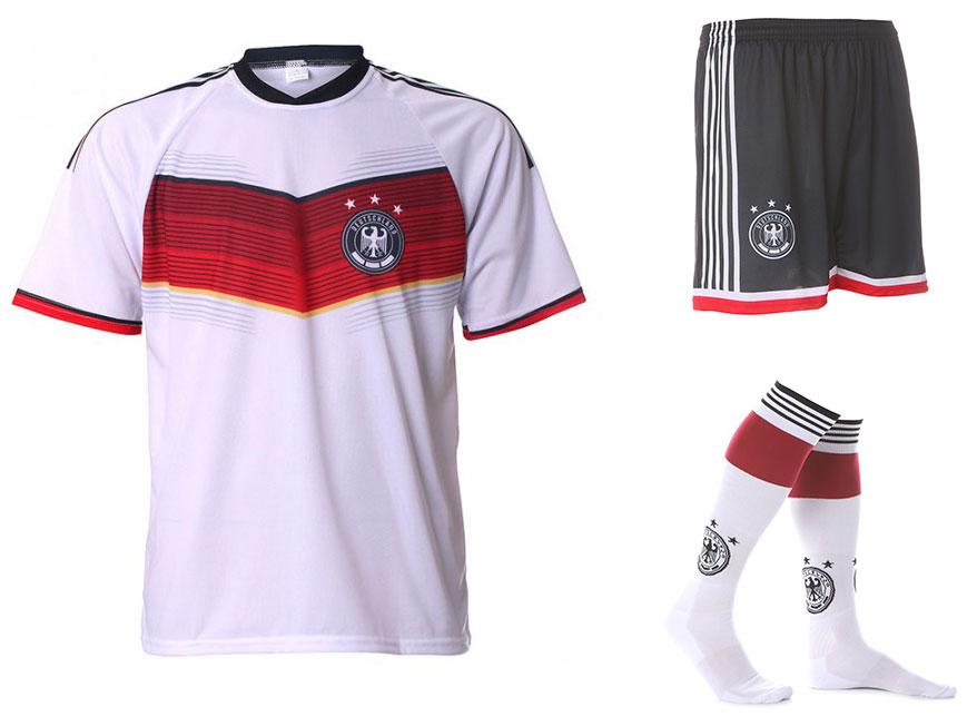 Duitsland Tenue Thuis Eigen Naam 2014-2016 Extra Kwaliteit
