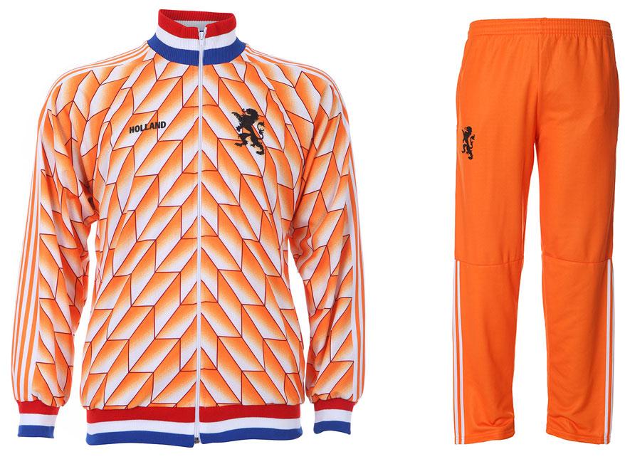 EK 88 Trainingspak - Nederlands Elftal - Eigen Naam - Oranje - Kids - Senior