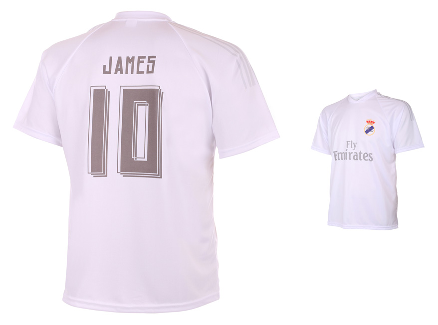 Real Madrid Voetbalshirt James Thuis 2015-2016