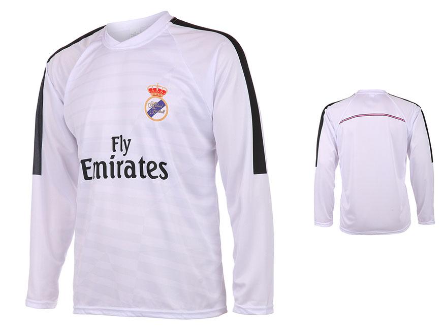 Real Madrid Voetbalshirt Thuis Eigen Naam 2014-2015 Lange Mouwen