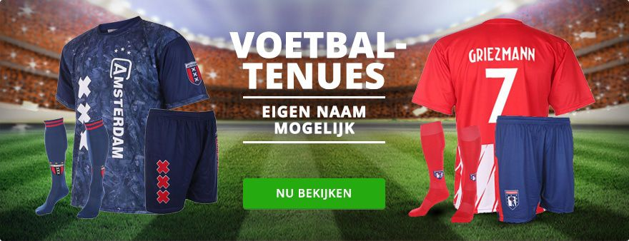 Voetbaltenues en voetbalshirts