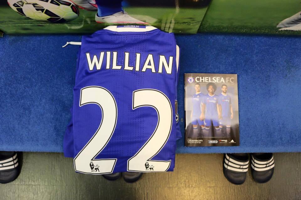 Chelsea thuis voetbalshirt 2016-2017 Willian