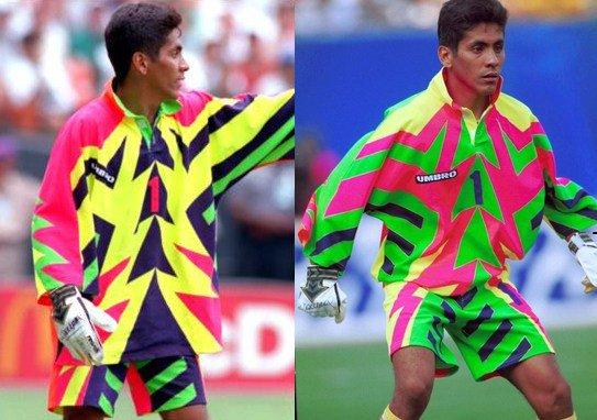 Lelijke shirts Jorge Campos