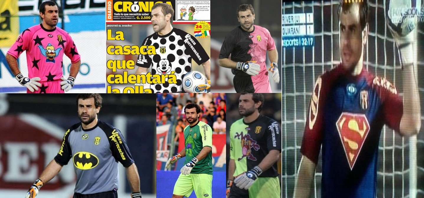 Voetbalshirts keepersshirts van Pablo Aurrecochea
