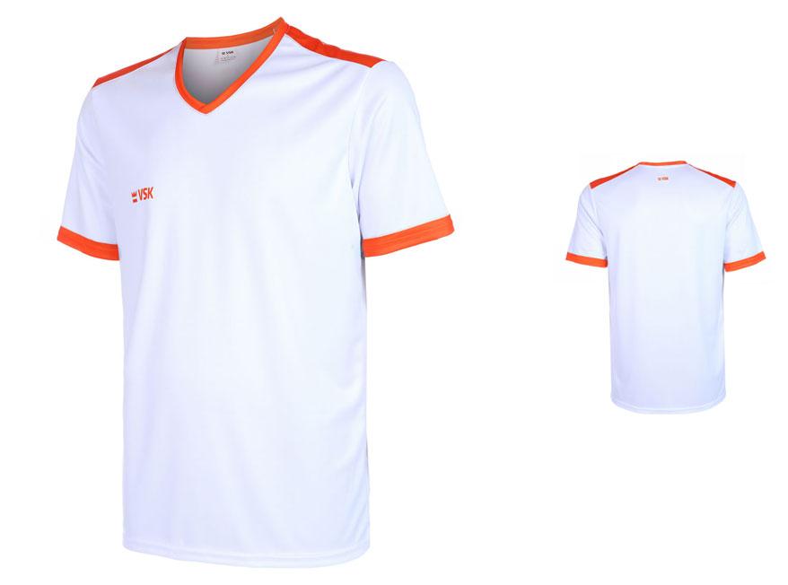 VSK Fly Voetbalshirt Eigen Naam Wit-Oranje